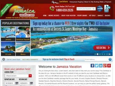 Travel and resort booking website in wordpress
