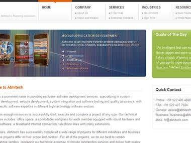 Abhitech Corporate Site