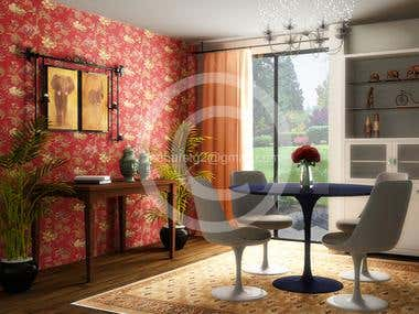 3Ds max-Vray. (modeling, lighting, texturing and Rendering)