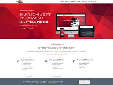 Website Design for cre8tiveWebs