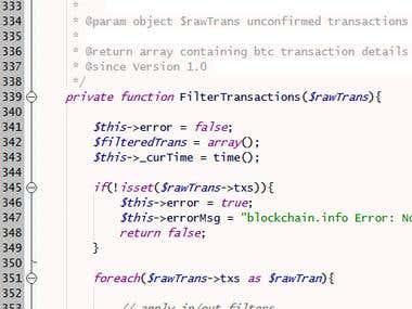 Filter Bitcoin transactions