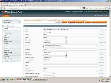 Magento product uploading Project