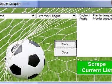 Soccer Results Scraper