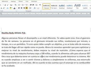 Transcription and translation (English - Spanish)