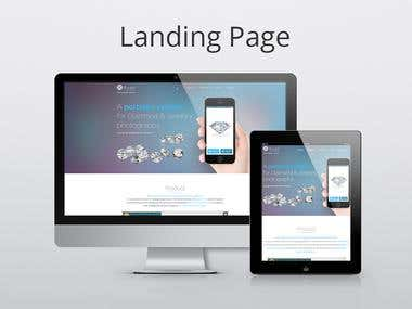 Landing page design & development for Pixell