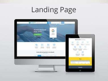 Landing page re-design