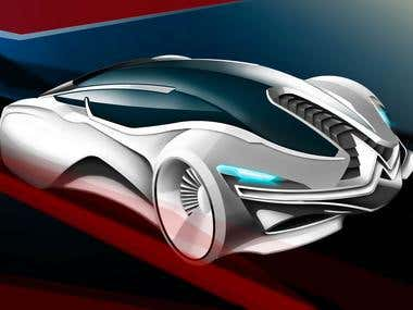 Concept car created by Photoshop