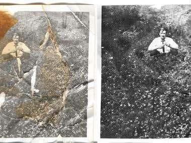 Restoring old photo