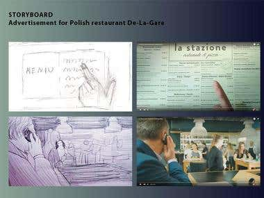 Storyboard Advertisment