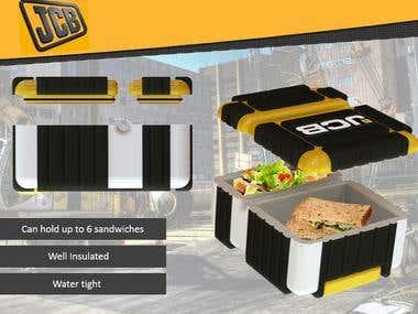 JCB Branding for a Lunch Box