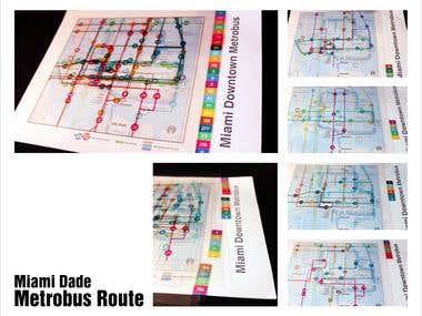 Miami Downtown Metro Route: Infograph