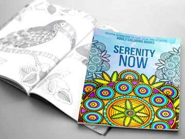 Book Cover Coloring Design