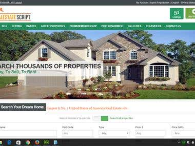 Realestate script By Zend CMS