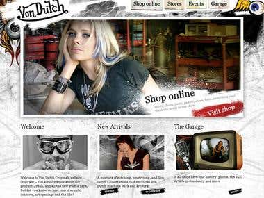 VonDutch fashion website design
