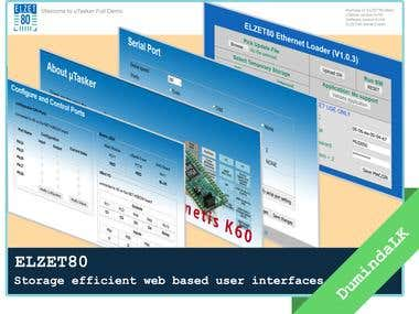ELZET80 - Storage efficient web pages