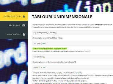 SITE HTML - TABLOURI UNIDIMENSIONALE