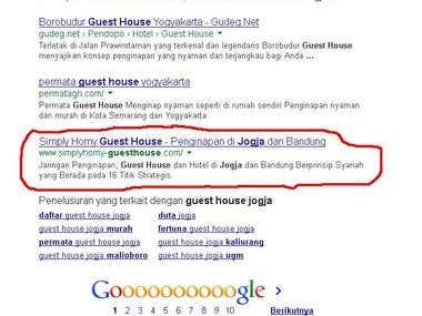 Keyword 'Guest House Jogja' website perusahaan