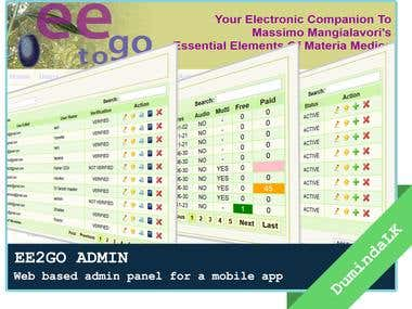 EE2GO - Web based admin panel