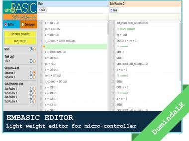 EMBASIC - Light weight editor for micro-controller