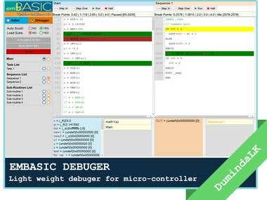 EMBASIC - Debugger for a micro-controller
