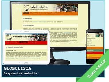 GLOBULISTA - Responsive website