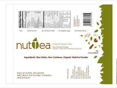 nutTea. Logo and packaging