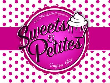 Logo design for Sweets&Petites bakery