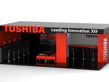 Toshiba - Stand 3D Render