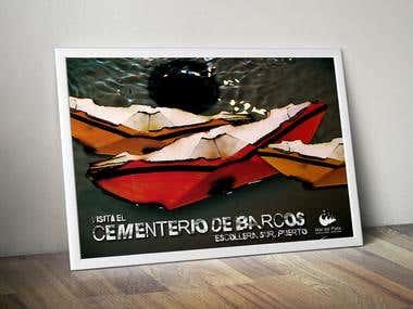 Cementerio de barcos Poster
