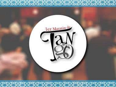 Logo para el 1er Maratón de tango en Mérida - Venezuela