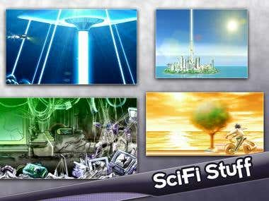 Backgrounds for Scifi or Fantasy stories.