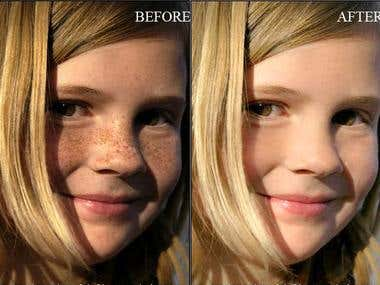 Photo Retouch Skin Lighting