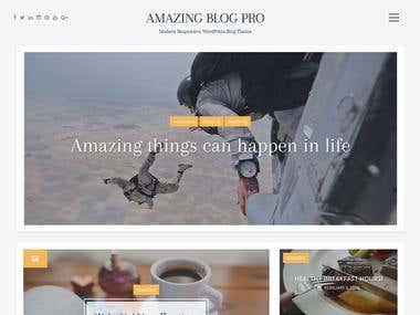 Amazing Blog WordPress Theme
