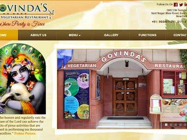 Website - Govindas Restaurant in ISKON Temple Delhi India