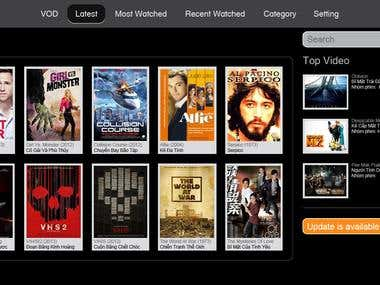 VOD( Video On Demand ) Android App for Smart TV