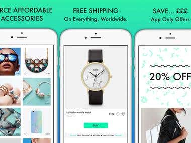 Ecommerce app for fashion industry