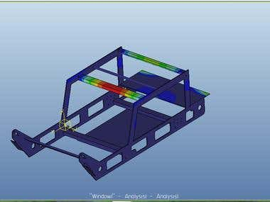 Finite Element Analysis (FEA) of Car Chair And Frames