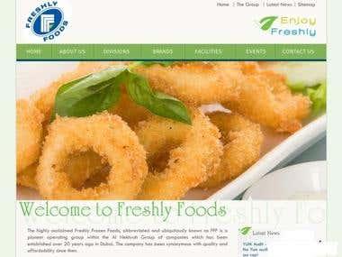 Freshly Food Site