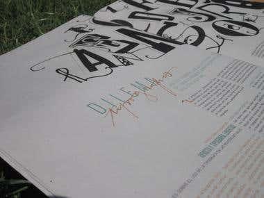 Dos Tintas - Suplemento de tipografía y lettering