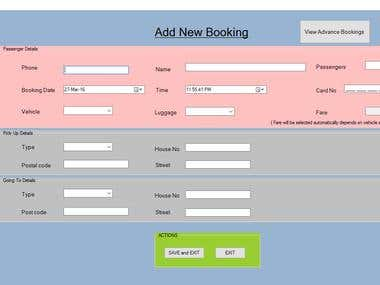 CAB Booking System
