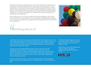 Ad balloons - Website design MockUp