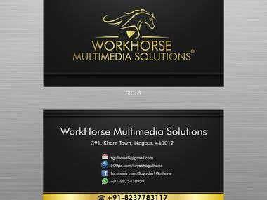 BUSINESS CARD of WorkHorse Multimedia Solutions
