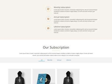 Wordpress Website for webshop