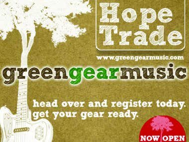 Green Gear Music - Now Open Banner