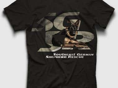 T-Shirt Design  for Southeast German Shepherd Rescue