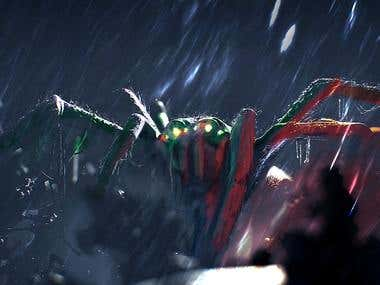 Spider concept art for game