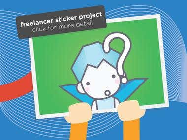 Freelancer Sticker Project by Dian Achong