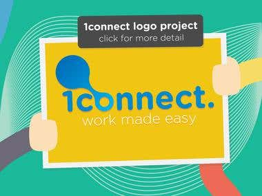 1connect Logo Design + Corporate ID