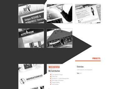 My third portfolio site...........