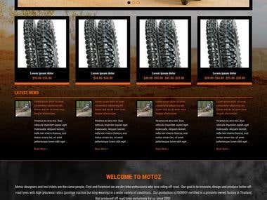 Motoz  Ecommerce  site